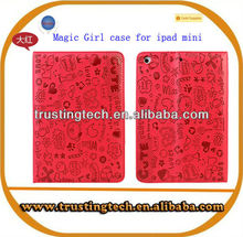 Cute PU Leather Magic Girl Case for Samsung Galaxy Tab 3 10.1 P5200