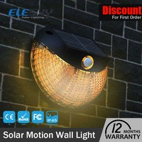 Ip65 aluminum integrated energy saving 2w solar powered outdoor motion lights