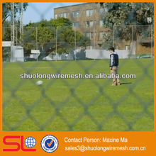 galvanized steel mini chain link fence black mesh,fine mesh chain link fence for school (Factory PVC & galvanized)