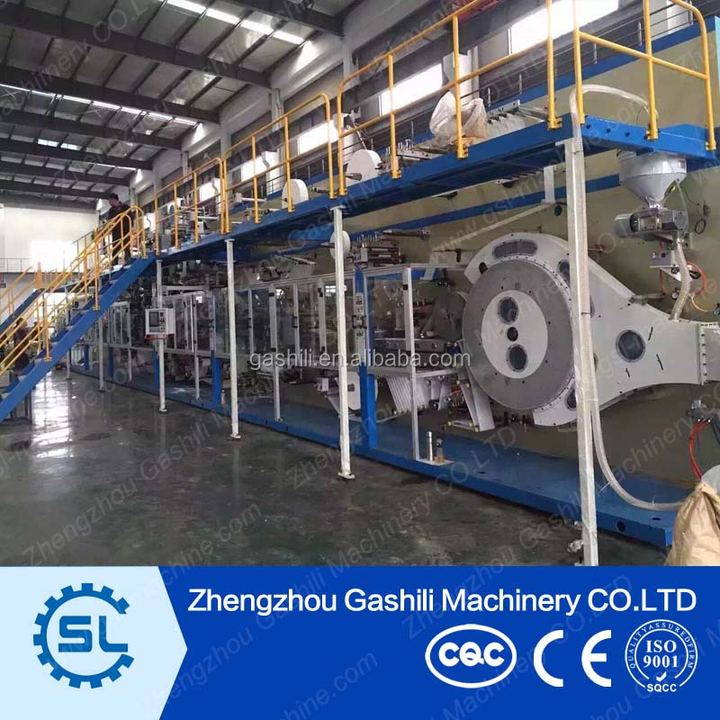 Hot selling baby diaper production line/machine manufacturing baby diaper