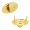 Gold Oval Turnlock shaped Metal Tags for handbags