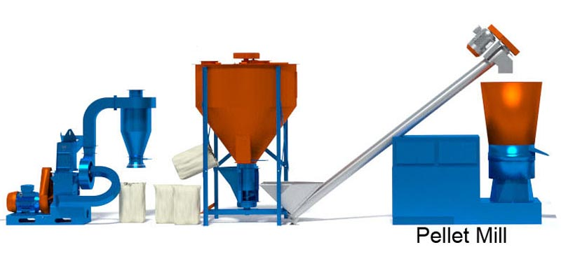 100-500kg Flat Die Poultry Feed Pellet Mill Pellet Mill for Feed Small Poultry Feed Mill with CE