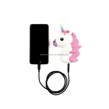 (Promotional Gift) 2016 new product pvc emoji unicorn power bank 2600mAh for phone/emoji power bank charger/mobile power