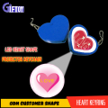 Heart Shape Logo Projector keyring Customer shape led keychain for promotional