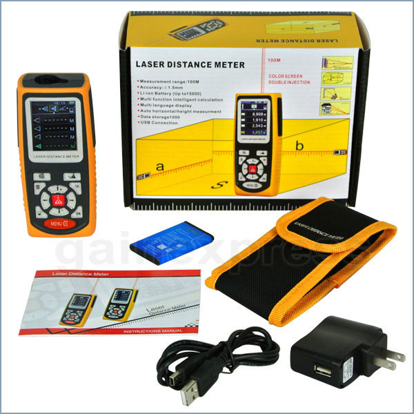 LASER DISTANCE METER AMF100X WIH USB CABLE BATTERY AND CHARGER