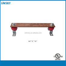 "Shanghai linsky 1/4""*2""*12"" Copper busbar ,electrical grounding earth bus bar"