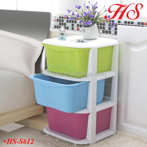 3 Tiers Homeware Plastic Storage Holder Bathroom Corner Rack - Buy ...
