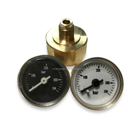 27mm bourdon tube miniature pressure gauge 350bar