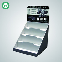 3 Tier Drink POP Counter Display, Paper Counter Display Stand