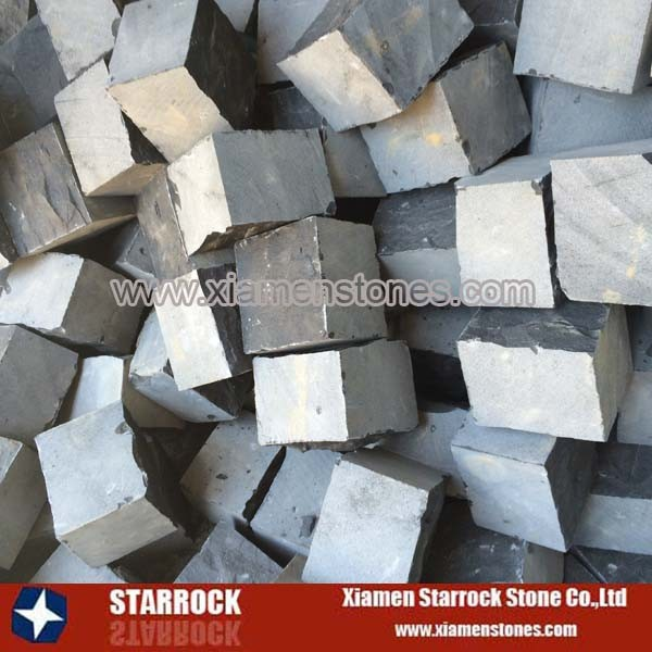 Blue stone paving cobble stone paving