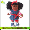Plush Fashion Girl Black Dolls Custom