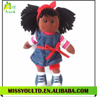 Plush Fashion Girl Dolls Soft Black Doll