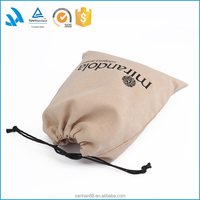 Promotion drawstring bags custom dust suede bag