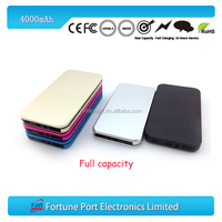 Wholesale Novelty customized ultra slim phone charger usb power bank 4000mAh