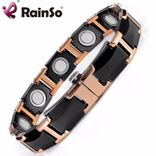 Negative Ion Bio Element High Power Energy Magnetic Germanium Ceramic Bracelet