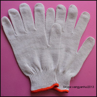 seamless knit cotton Canada import glove