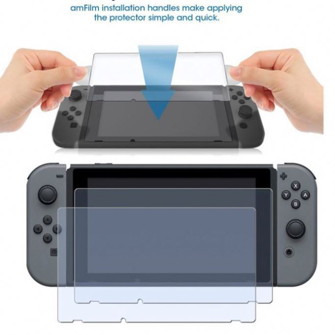 Protective Skin Tempered Glass Guard For Nintendo Switch
