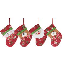 Holiday time fabric ornaments flet canada decorations wholesale christamas stockings