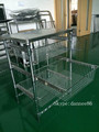 Hospital Trolley With Sliding Wire Basket Trolley