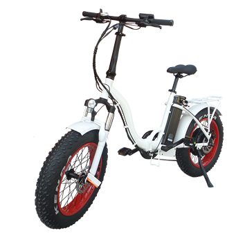 Folding Electric fat tire Bicycle Ebike Lithium 250W36V LCD Display