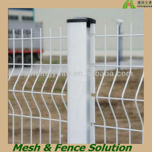 White Vinyl Coated Wrought Iron Fence Fittings Supplier