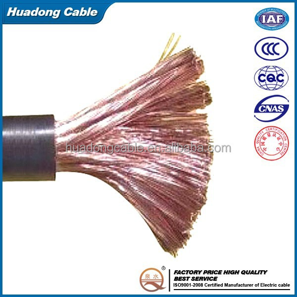 70mm2 pvc rubber jacket welding cable
