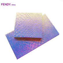 Holographic mermaid pu material empty makeup magnetic palette wholesale support private label wholesale