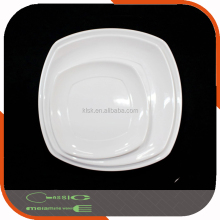 Square White Melamine Tableware Plate