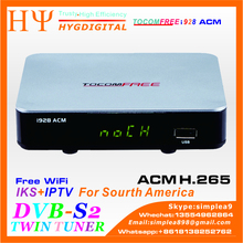 TOCOMFREE I928 ACM H.265 With WiFi Digital Satellite Receiver DVB-S2 IKS IPTV Support CCCAM NEWCAMD