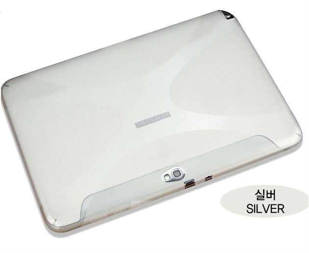 X-Slim Silver Flexible Clear Soft Case for Samsung Galaxy Note 10.1 [GOGLW04095]