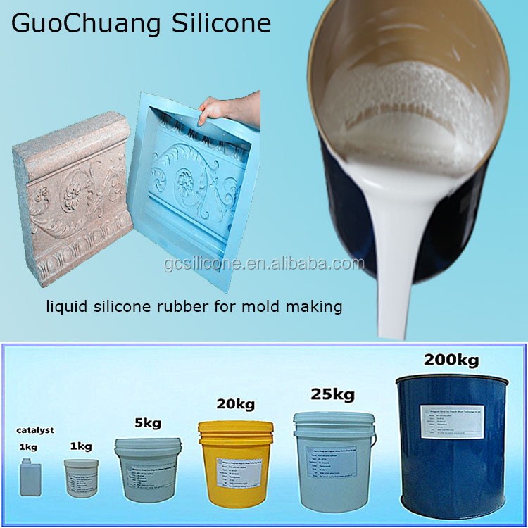 Hot sale rtv molding silicone rubber to make concrete plaster molds