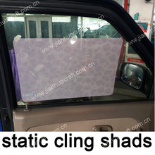Static sunshade with unlimited amount of peel offs