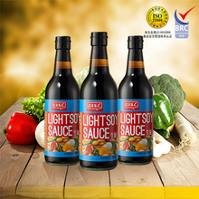 Chinese superior black bean soy sauce no preservatives glass bottle soya light sauce