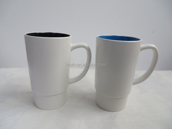 Ceramic car cups white blank mugs wholesale