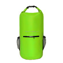 500D waterproof ocean dry bag with zipper and pocket for floating boating tube bags