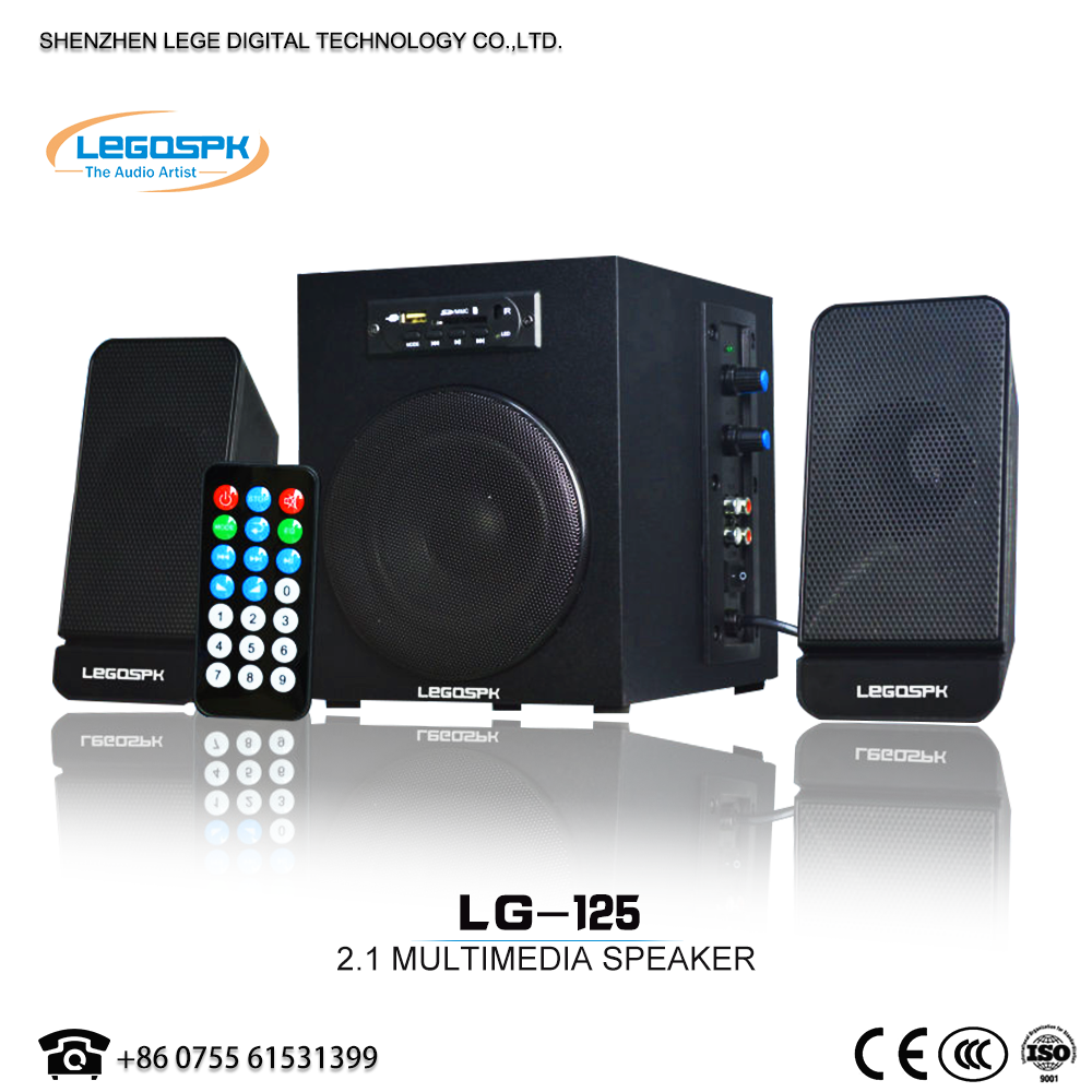 2.1 portable audio bluetooth speaker with USB SD FM REMOTE active computer home theater system speaker