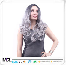 Europe and America selling grandmother gray big wave hairwig full body mannequin