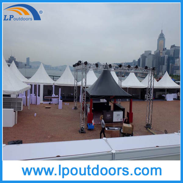 6x6m Outdoor aluminum white PVC wedding marquee canopy tent for event