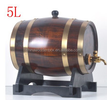 5L Fire Burning Wooden Beer Wine Barrel With Logo
