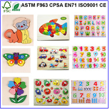DIY Toy,Educational Toy Style and Jigsaw Puzzle Type wooden puzzles for kids