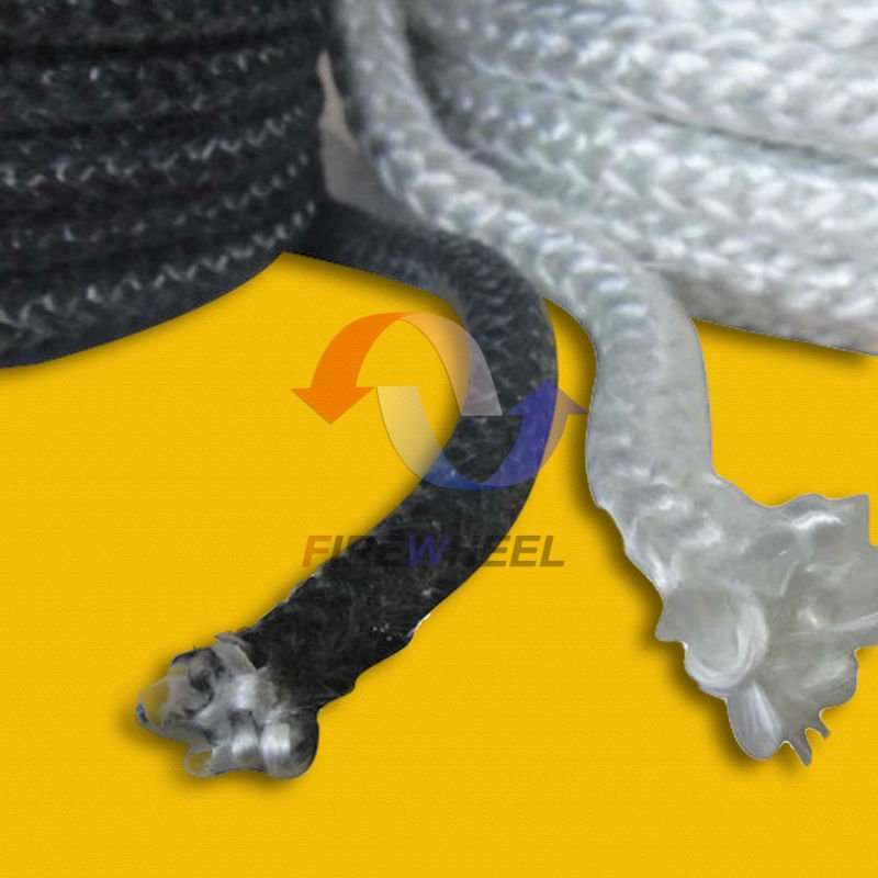 E-glass Fiberglass Knitted Rope For Gasket or Seal on boiler, Coke Oven, Industrial Oven and wood stove/pellet stove doors