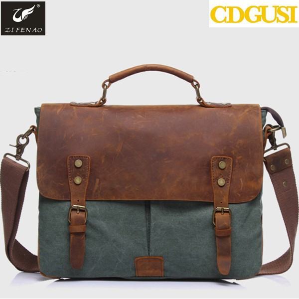 2016 Hot Sale Veevan vintage men business travel messenger bags canvas shoulder bag