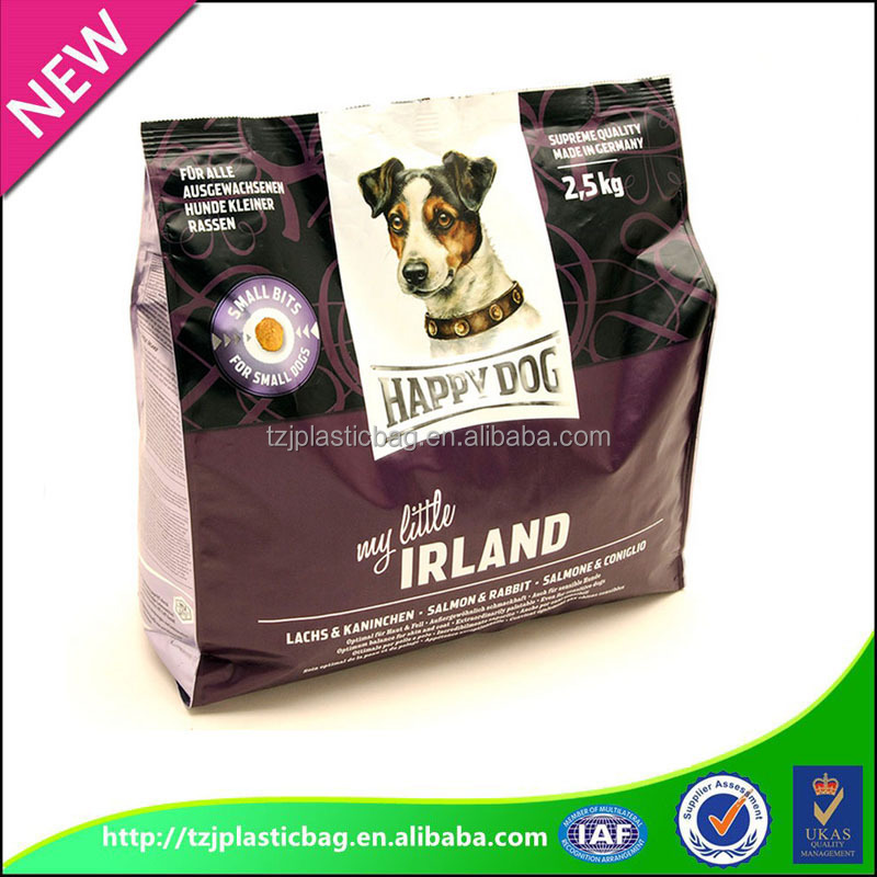 Factory supply Flat bottom pet food packaging bags
