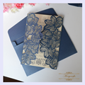 MR001 flower pattern style laser cut invitation card for wedding