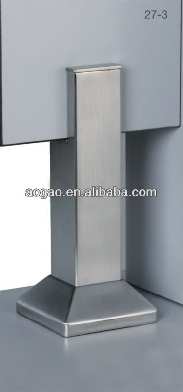 stainless steel adjustable legs for toilet cubicle