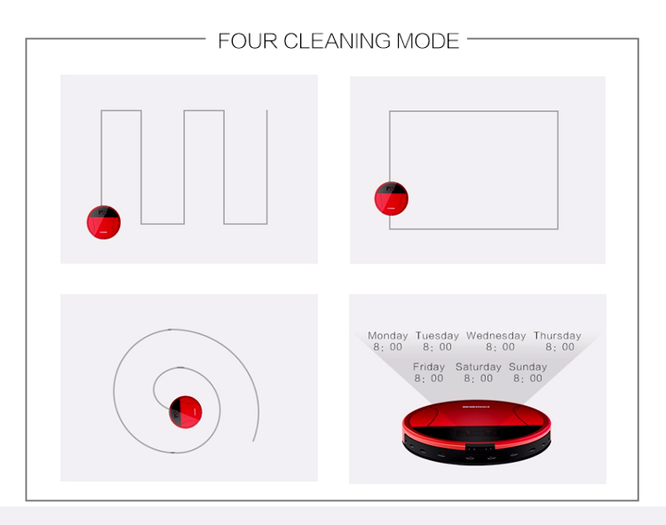 New Design Robot Vacuum Cleaning Household Floor Automatic Cyclonic Vacuum Cleaner