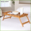 High Quality Bamboo Bed Breakfast Food Serving Tray With Handle/Bamboo Tray With Foldable Leg/Homex_BSCI