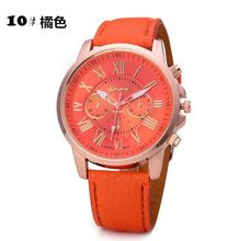 China Cheaper 2018 Fashion Women Geneva Analog Leather Quartz Wrist Watch Watches relogio feminino QD0222