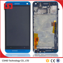 Blue New Original LCD Display Touch Screen Digitizer For HTC One M7 801e with Frame Assembly