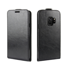 2018 New Magnetic Closure PU Leather Vertical Wallet Card Slots Folio Up-Down Open Cover Flip Phone Case For Samsung Galaxy S9